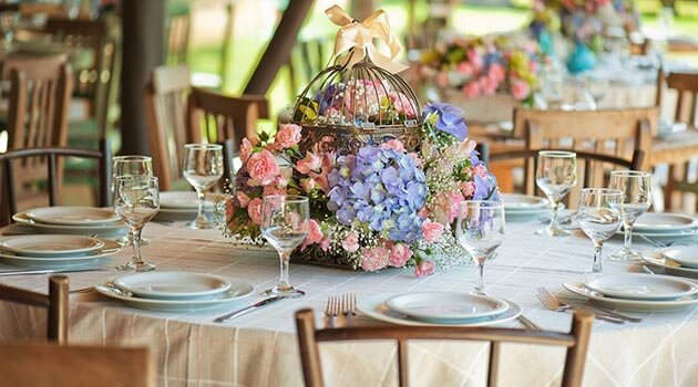 Arranjo de mesa floral