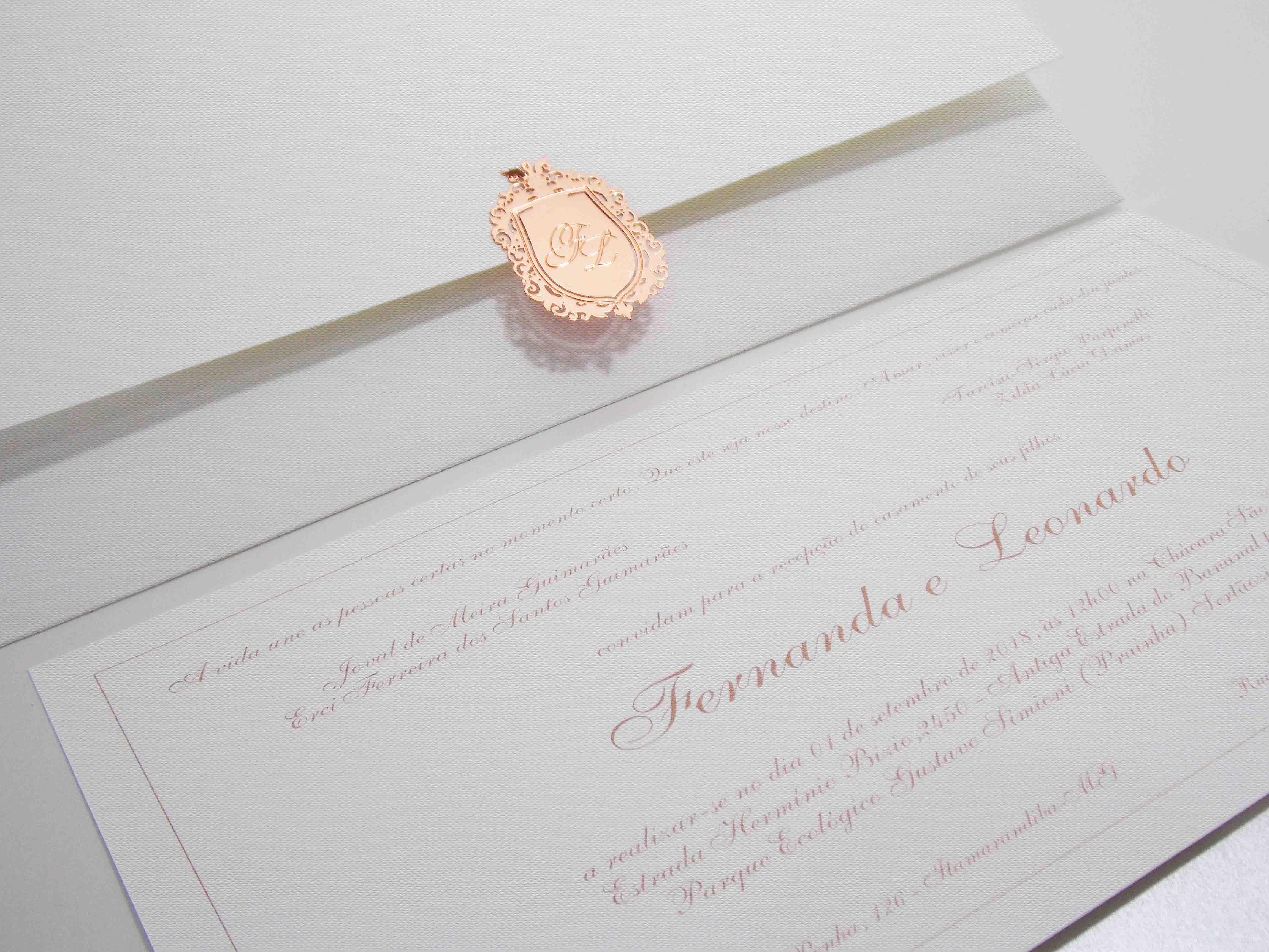 Convite de Casamento Brasão