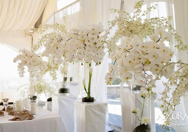 Decoração floral clássica
