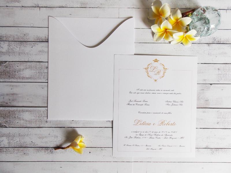 Convite de Casamento Barato e Elegante