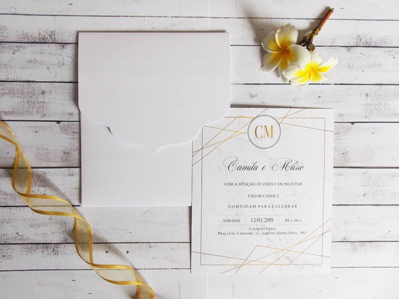 Convite Barato e Elegante