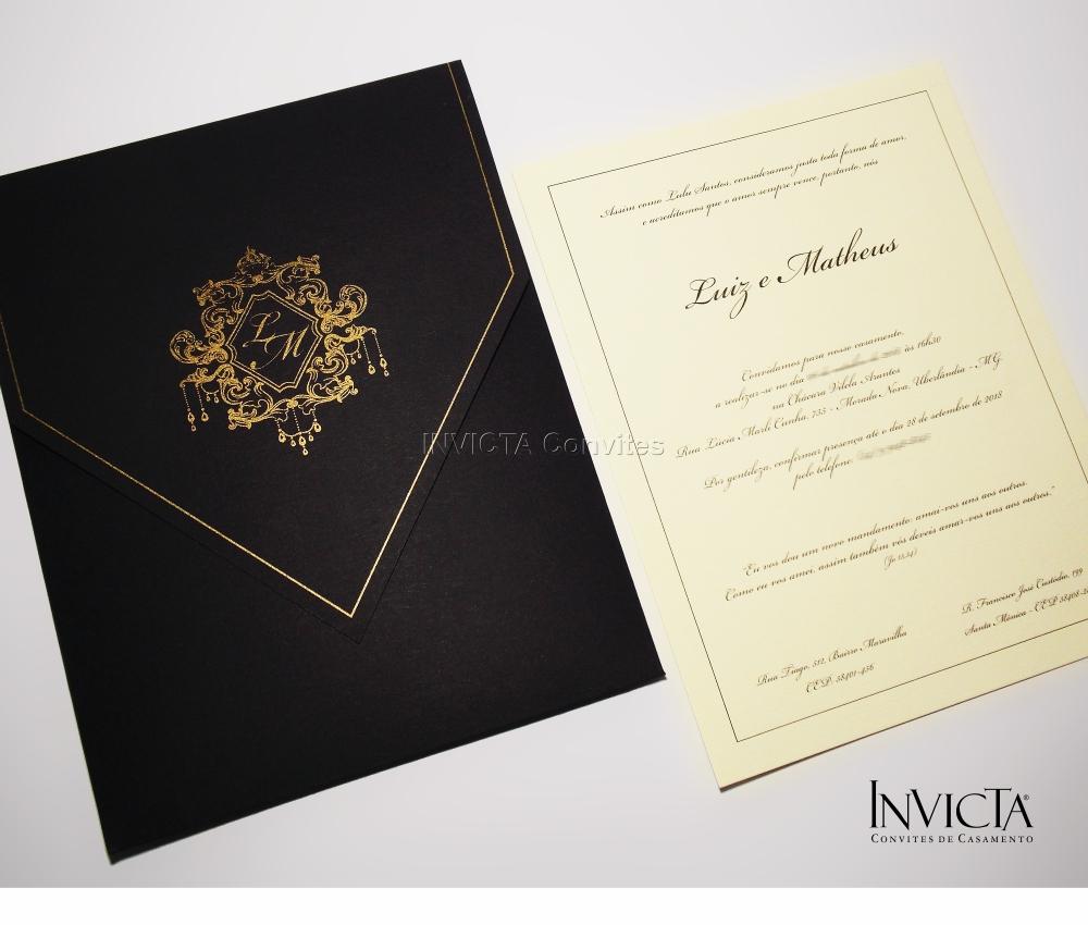 Convite de Casamento Gay