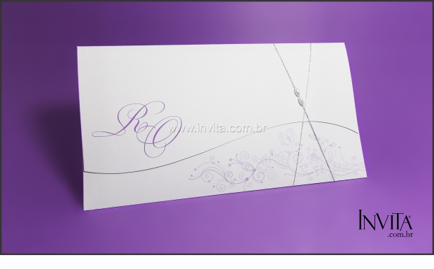 Convite de Casamento Lilás